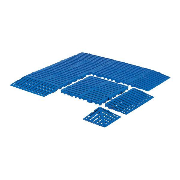 【送料無料】(業務用5個セット)三甲(サンコー) サンスノコ(すのこ板/敷き板) 620mm×620mm 樹脂製 ベース #660-2 ブルー(青) 【代引不可】