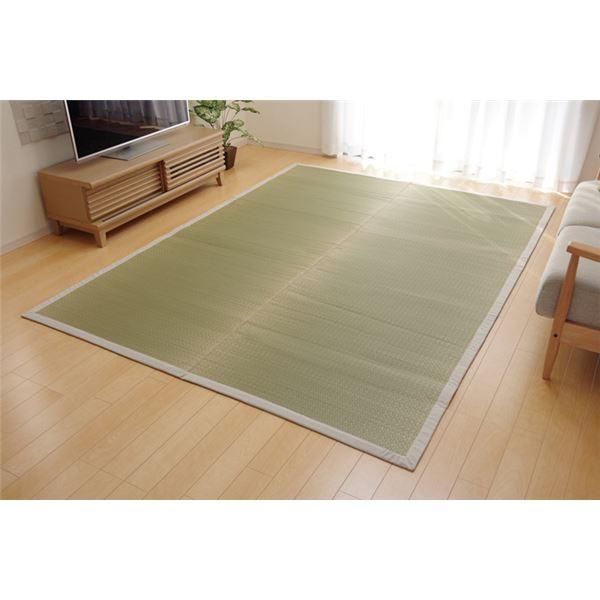 【送料無料】純国産 い草ラグカーペット 『F)MUKU』 約140×140cm(麻)