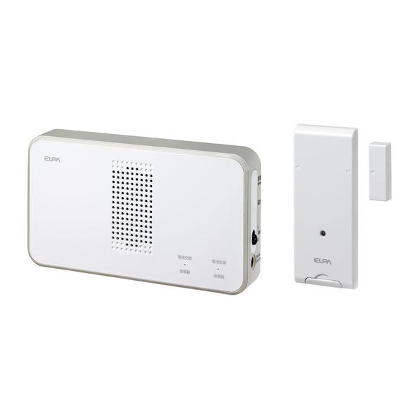 【送料無料】ELPA ワイヤレスチャイム 受信器+ドアセンサー送信器セット EWS-S5034