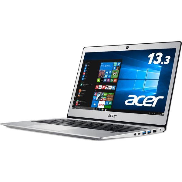 Acer Swift 1 SF113-31-A14Q/S (Celeron N3350/4GB/128GBeMMC/ドライブなし/13.3/Windows 10 Home(64bit)/APなし/ピュアシルバー) SF113-31-A14Q/S
