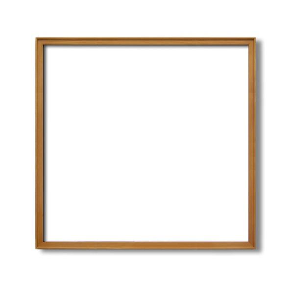 【角額】高級木製正方形額・壁掛けひも・アクリル付き ■9787 600角(600×600mm)「チーク」