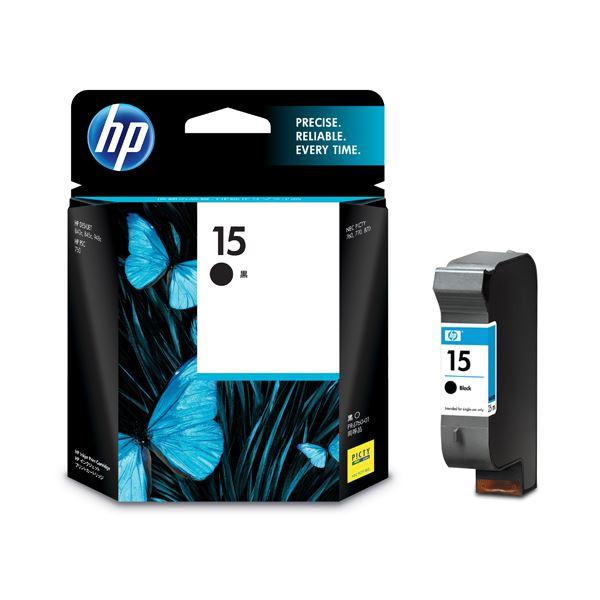 【送料無料】(まとめ) HP15 プリントカートリッジ 黒 C6615DA#003 1個 【×3セット】