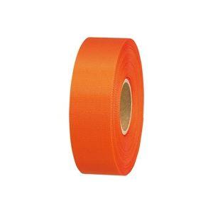 【送料無料】(業務用100セット) ジョインテックス カラーリボンオレンジ 24mm*25m B824J-OR