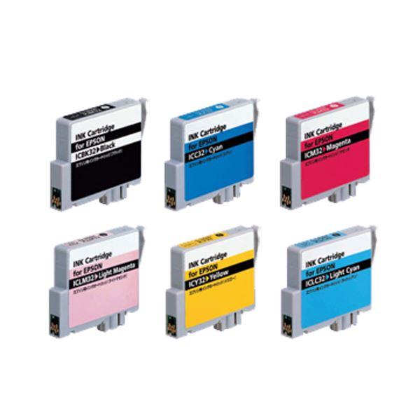 【送料無料】(まとめ)アッシー プリンター互換インク エプソン用 6色セット AS-IC6CL32【×3セット】