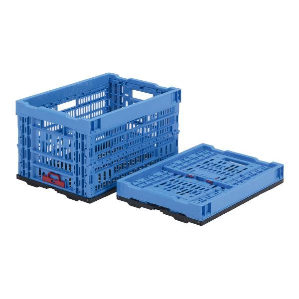【送料無料】(業務用5個セット)三甲(サンコー) 折りたたみコンテナボックス/オリコン 【47L】 プラスチック製 P48A ブルー(青) 【代引不可】
