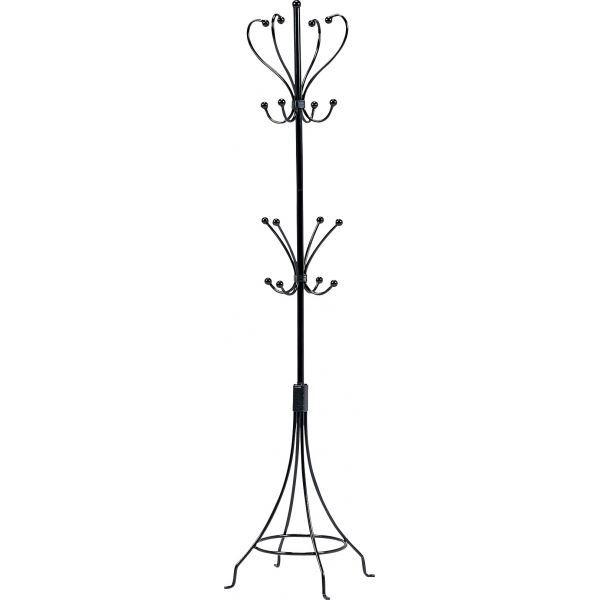 【送料無料】ポールハンガーラック(コートハンガー/衣類収納) 幅36cm×奥行36cm スチールパイプ アイアンシリーズ ブラック(黒)【代引不可】