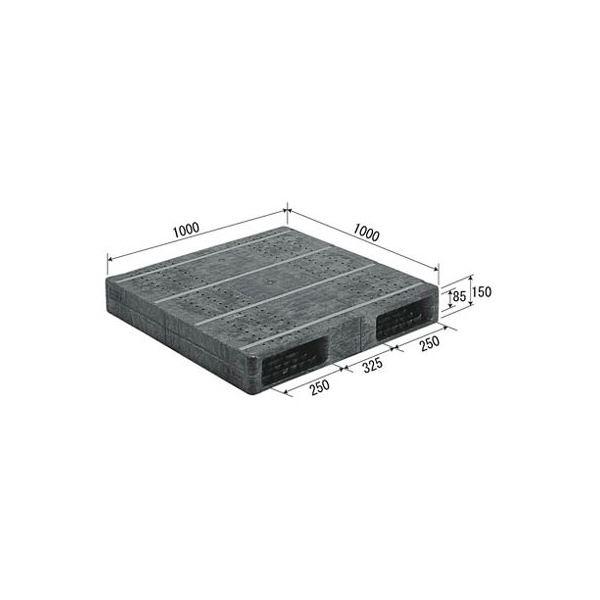 【送料無料】三甲(サンコー) プラスチックパレット/プラパレ 【両面使用型】 段積み可 R2-1010F-2 グレー(灰)【代引不可】