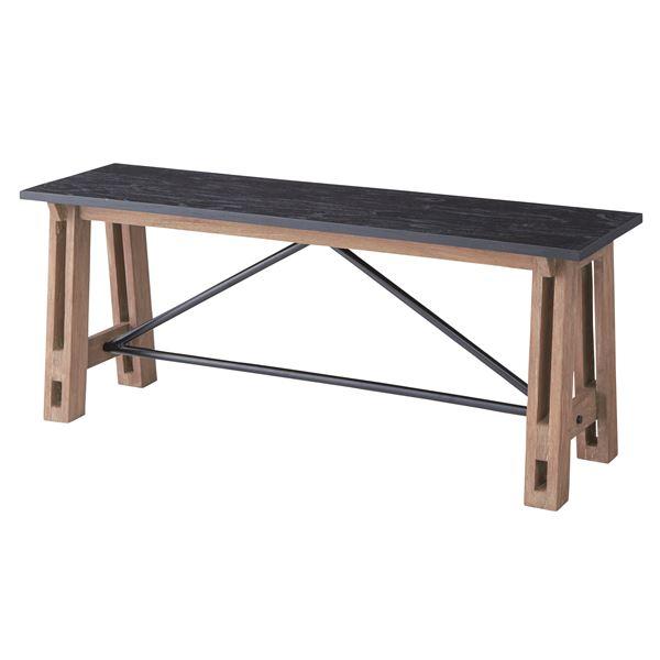 【送料無料】ウッディテイストベンチチェア/置台 【幅115cm】 木製 天然木 NW-854B 〔インテリア家具 什器〕