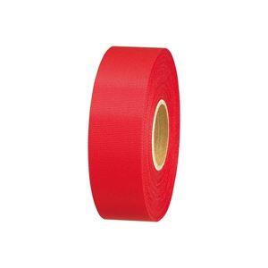 【送料無料】(業務用100セット) ジョインテックス カラーリボン赤 24mm*25m B824J-RD