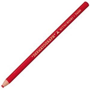 (業務用30セット) 三菱鉛筆 ダーマト鉛筆 K7600.15 赤 12本入