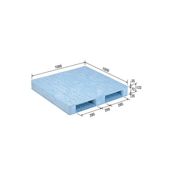 【送料無料】三甲(サンコー) プラスチックパレット/プラパレ 【片面使用型】 軽量 D2-1010F ライトブルー(青)【代引不可】