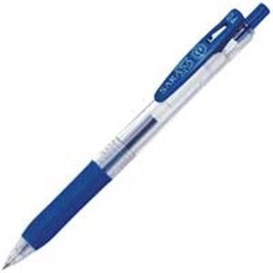 【送料無料】(業務用500セット) ZEBRA ゼブラ ボールペン サラサクリップ 【0.4mm/青】 ゲルインク ノック式 JJS15-BL