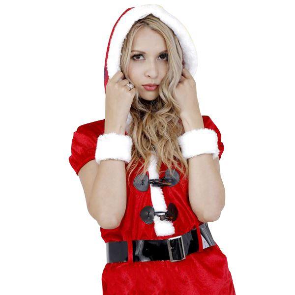 【送料無料】クリスマスコスプレ/衣装 【Hood Rompers Santa フードロンパースサンタ】 レディース 『CLUB QUEEN』 〔イベント パーティー〕