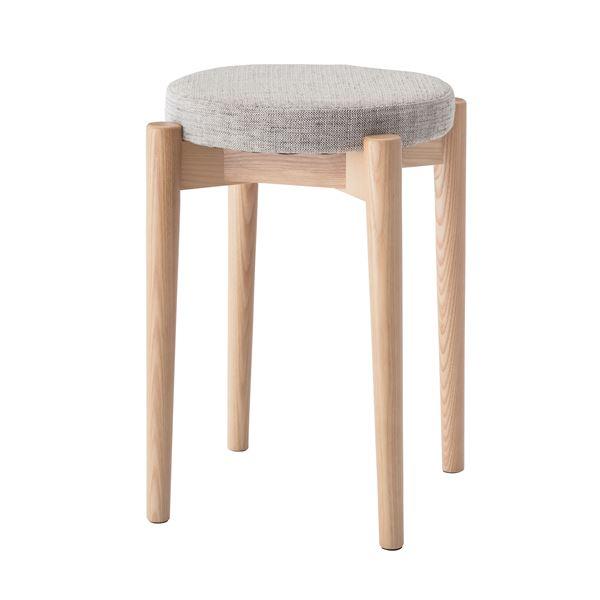 【送料無料】シンプルスタッキングスツール/腰掛け椅子 【ベージュ】 積み重ね可 クッション付き CL-782CBE