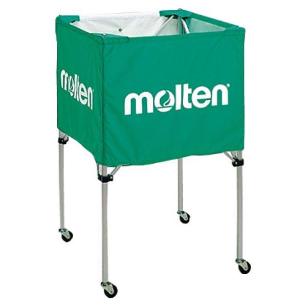【送料無料】モルテン(Molten) 折りたたみ式ボールカゴ(中・背高 屋内用) 緑 BK20HG