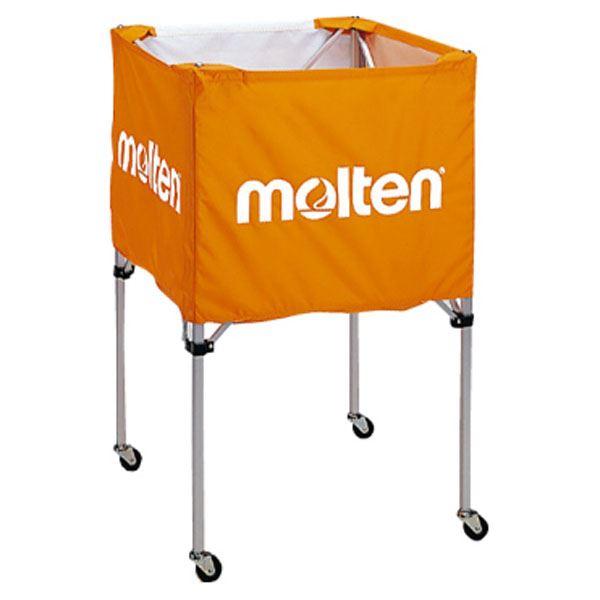 【送料無料】モルテン(Molten) 折りたたみ式ボールカゴ(中・背高 屋内用) オレンジ BK20HO