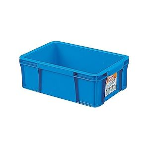 【送料無料】【30セット】 ホームコンテナー/コンテナボックス 【HC-07A】 ブルー 材質:PP 〔汎用 道具箱 DIY用品 工具箱〕【代引不可】