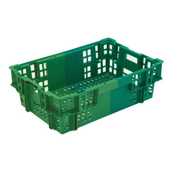 【送料無料】(業務用5個セット)三甲(サンコー) SNコンテナ/2色コンテナボックス 【Cタイプ】 #35W グリーン×グリーン 【代引不可】