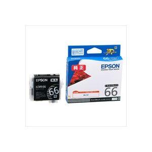 【送料無料】(業務用40セット) EPSON エプソン インクカートリッジ 純正 【ICMB66】 マットブラック(黒)