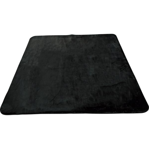 ラグ カーペット ホットカーペット対応 ふわふわ手触り プリズム 幅220×奥行320cm ブラック 九装