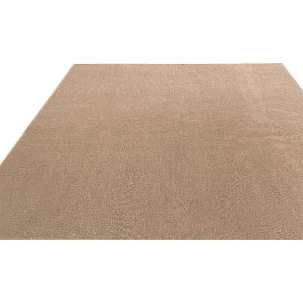 フリーカットができる 抗菌 防臭 防炎カーペット 絨毯 / 江戸間 6畳 261×352cm アイボリー / 洗える 日本製 『ウェルバ』 九装