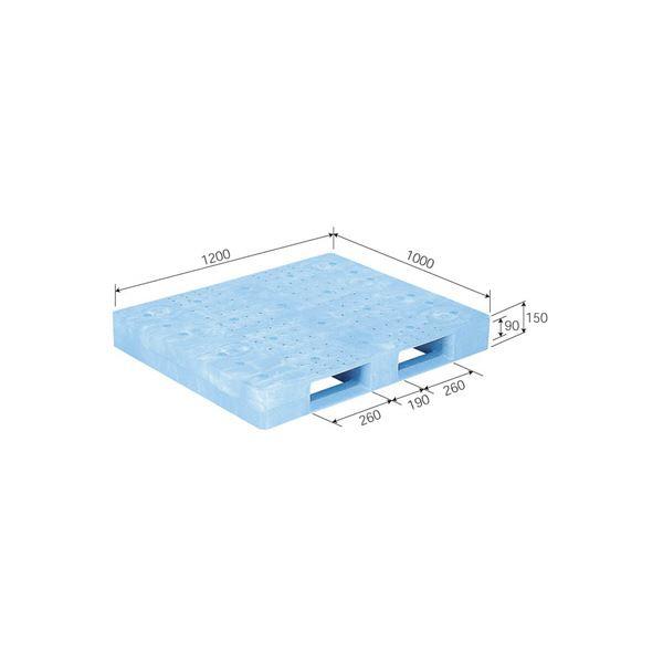 【送料無料】三甲(サンコー) プラスチックパレット/プラパレ 【片面使用型】 製薬業界向けパレット 軽量 D-1012F-2 ライトブルー(青)【代引不可】