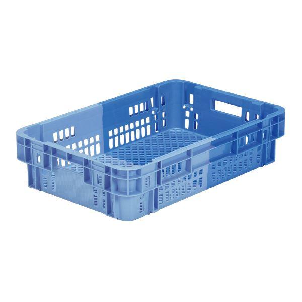 【送料無料】(業務用5個セット)三甲(サンコー) SNコンテナ/2色コンテナボックス 【Cタイプ】 #37FU ブルー×ライトブルー 【代引不可】