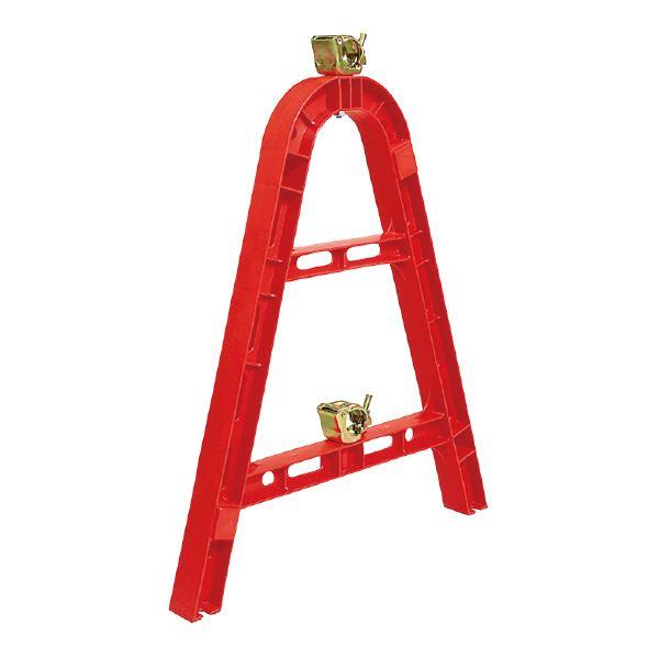 (業務用10個セット)三甲(サンコー) 単管バリケード 【組み立て式】 ポリプロピレン製 段積み可 レッド(赤) 【代引不可】