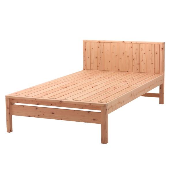 国産 ひのき すのこベッド(ベッドフレームのみ)ダブル 無塗装【代引不可】