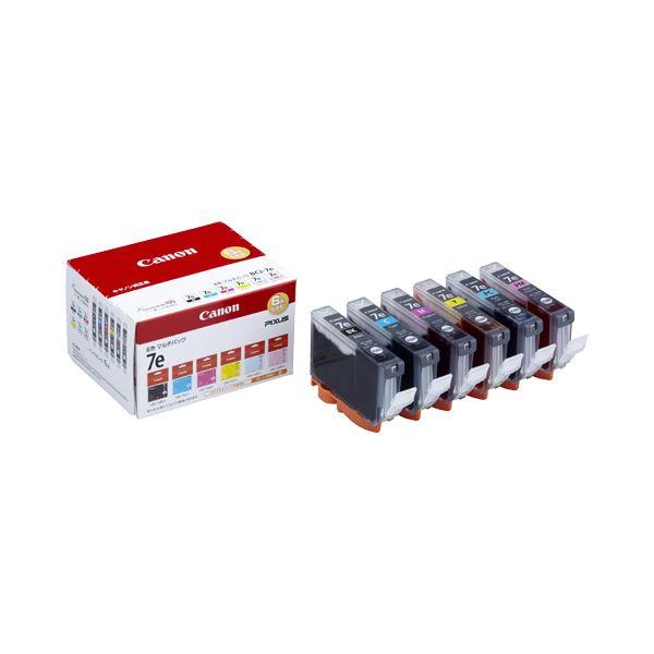 【送料無料】(まとめ) キヤノン Canon インクタンク BCI-7e/6MP 6色マルチパック 1018B002 1箱(6個:各色1個) 【×3セット】
