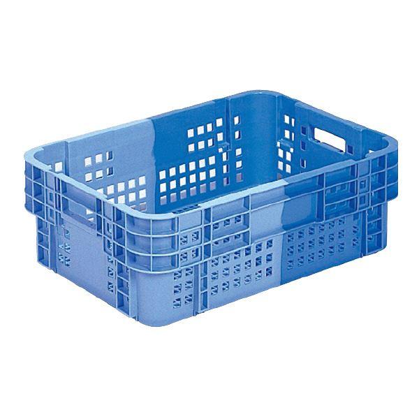 【送料無料】(業務用5個セット)三甲(サンコー) SNコンテナ/2色コンテナボックス 【Cタイプ】 #42 ブルー×ライトブルー 【代引不可】
