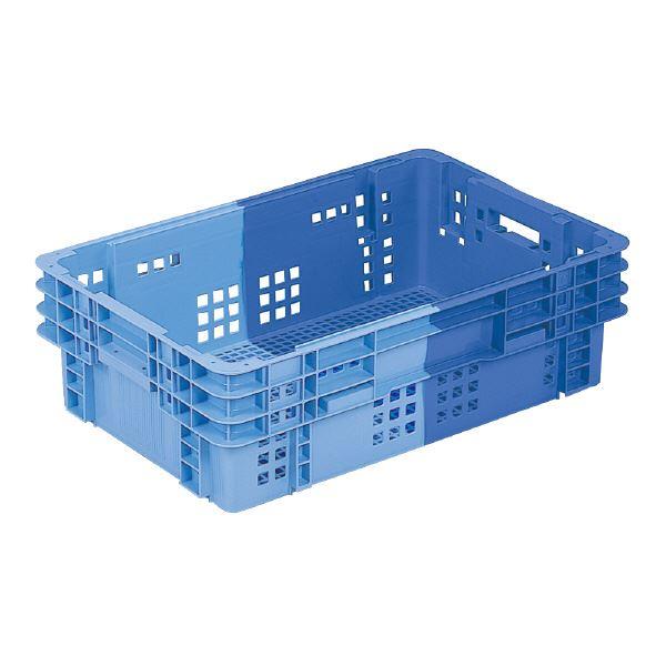 【送料無料】(業務用5個セット)三甲(サンコー) SNコンテナ/2色コンテナボックス 【Cタイプ】 #41 KA ブルー×ライトブルー 【代引不可】
