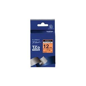 【送料無料】(業務用30セット) brother ブラザー工業 文字テープ/ラベルプリンター用テープ 【幅:12mm】 TZe-B31 蛍光橙に黒文字