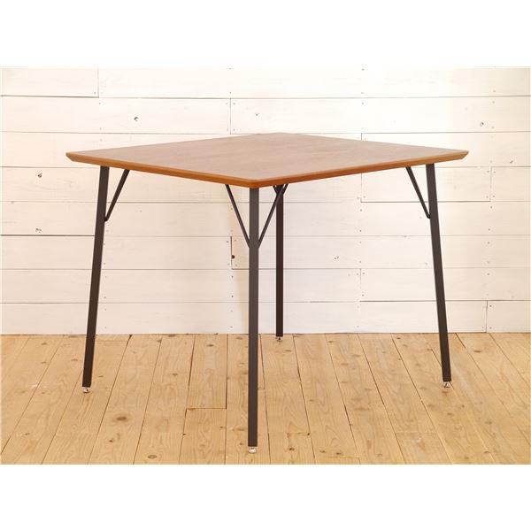 【送料無料】木目調ダイニングテーブル/リビングテーブル 【長方形 幅90cm】 スチール脚 『MONTシリーズ』【代引不可】
