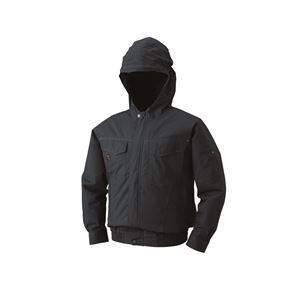 【送料無料】空調服 フード付綿薄手長袖ブルゾン リチウムバッテリーセット BM-500FC69S6 チャコール 4L