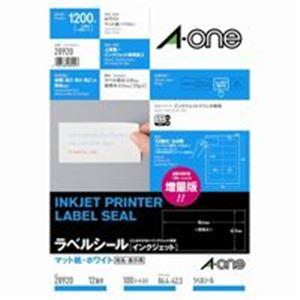 【送料無料】(業務用10セット) エーワン インクジェット用ラベル/宛名シール 【A4/12面 100枚】 28920