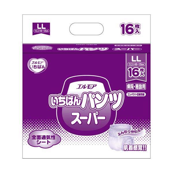 【送料無料】カミ商事 いちばんパンツスーパーLL16枚×6P
