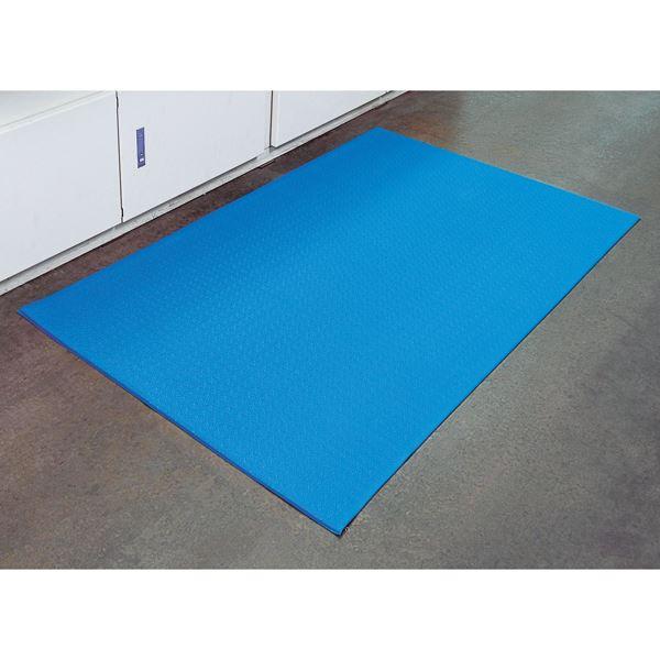 【送料無料】キングクッションマット キングF-154-15 ■カラー:ブルー【代引不可】