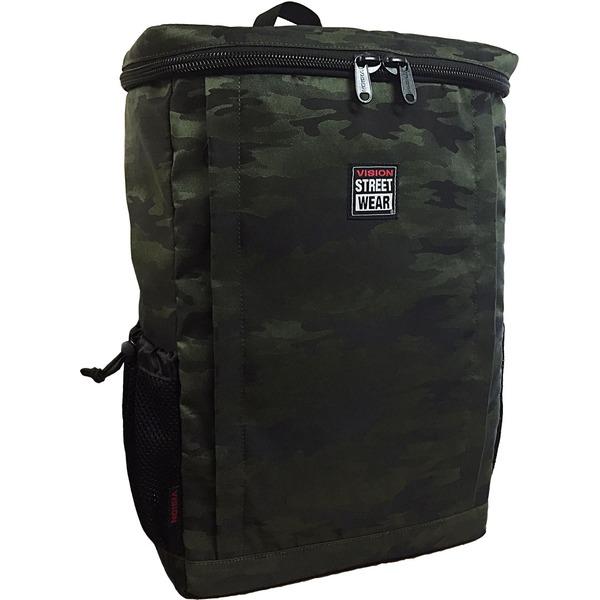 【送料無料】VI SION(ビジョン)ラップトップ収納ポケット&PC用衝撃緩和材入りスクエア型バッグバッグ GREEN JACQUARD CA MO