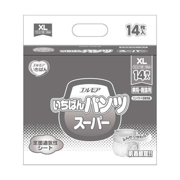 【送料無料】カミ商事 いちばんパンツスーパーXL14枚×6P