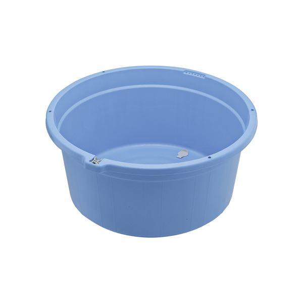 【送料無料】【6セット】 たらい容器/清掃用品 【丸型100】 排水栓付き 『GKリスビッグタライ 〔家庭用品 掃除用品 業務用〕【代引不可】