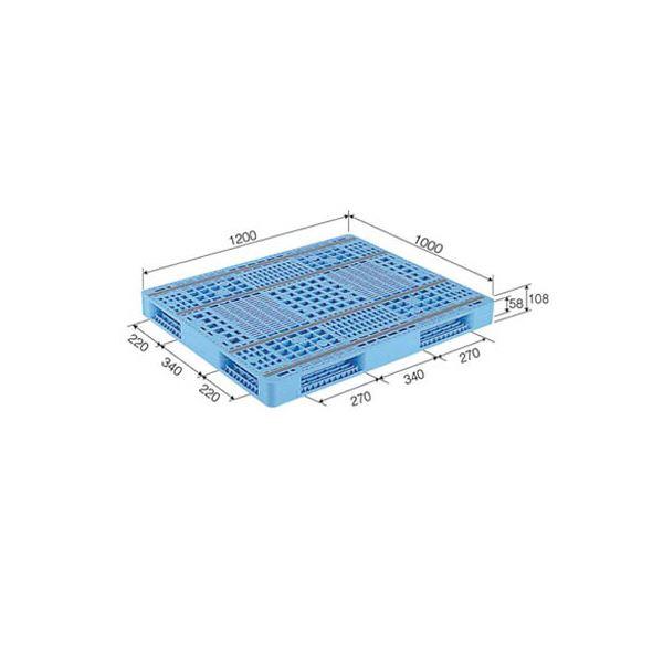【送料無料】三甲(サンコー) プラスチックパレット/プラパレ 【両面使用型】 TP規格箱専用パレット 段積み可 R4-1012-3 ライトブルー(青)【代引不可】