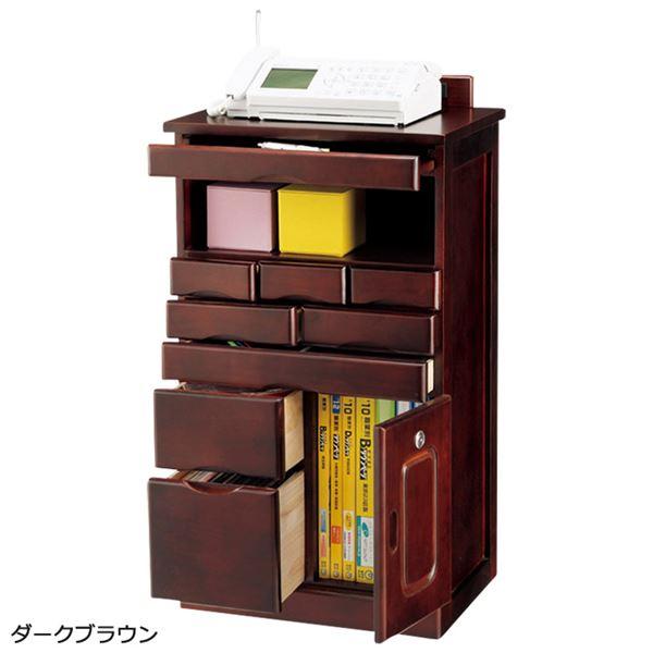 【送料無料】新・引き出しいっぱいキャビネット(リビングボード・電話台・ファックス台) 【幅45cm】 ライトブラウン