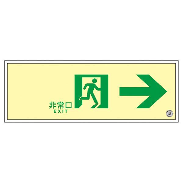 【送料無料】高輝度蓄光通路誘導標識 非常口→ SUC-0772【代引不可】