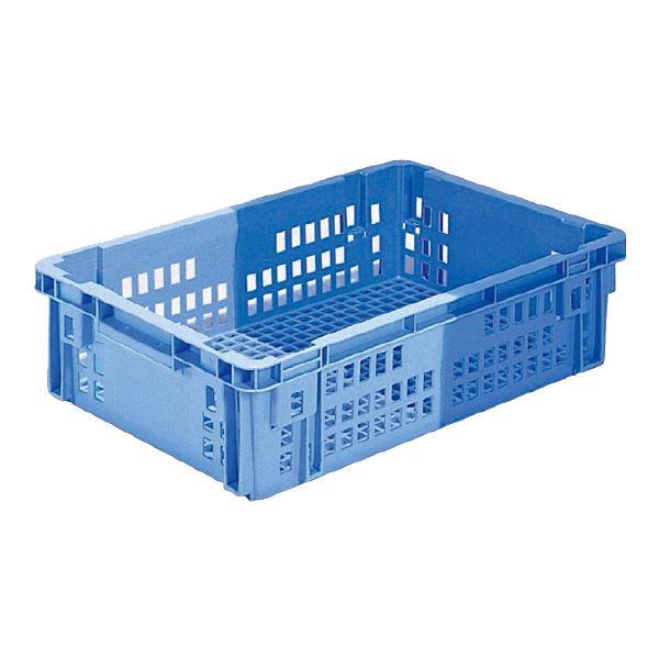 【送料無料】(業務用5個セット)三甲(サンコー) SNコンテナ/2色コンテナボックス 【Cタイプ】 #48 ブルー×ライトブルー 【代引不可】