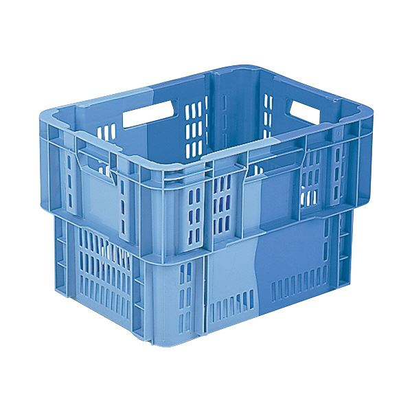 【送料無料】(業務用5個セット)三甲(サンコー) SNコンテナ/2色コンテナボックス 【Cタイプ】 #46 ブルー×ライトブルー 【代引不可】