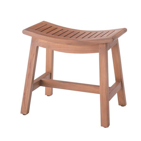 【送料無料】天然木スツール(腰掛け椅子) 幅51cm×奥行34cm×高さ45cm 木目調 TTF-901
