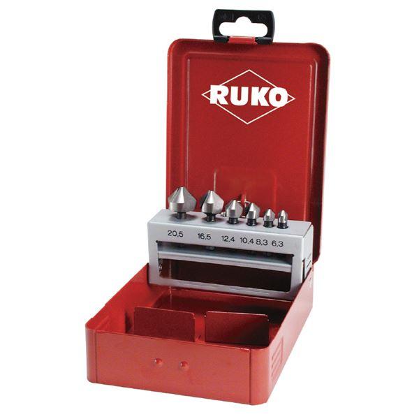 【送料無料】RUKO(ルコ) 102319 6PC カウンターシンクセット (スチールケース入り)