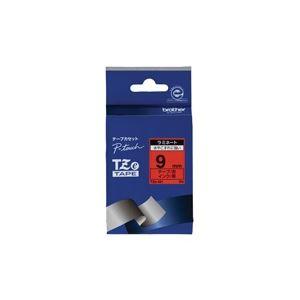 【送料無料】(業務用30セット) brother ブラザー工業 文字テープ/ラベルプリンター用テープ 【幅:9mm】 TZe-421 赤に黒文字