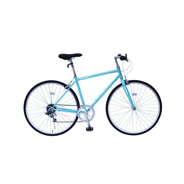 【送料無料】6段変速 クロスバイク 【ブルー】 700C スチール 幅169cm×奥行53cm×高さ100cm サドル83cm~101cm 重量17kg 『FIELD CHAMP』【代引不可】